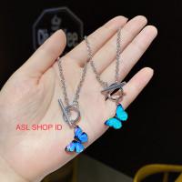 Gelang kupu kupu Wanita   gelang fashion   korea  Perhiasan Murah - Biru