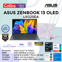 ASUS ZENBOOK 13 OLED UX325EA I5-1135G7 8GB 512GB 13.3FHD OLED W10 OHS