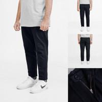 Celana Chino Pria Uniqlo Slim Fit Ankle Pants Dark Navy