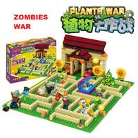 MAINAN ANAK LEGO BRICK ZOMBIE VS PLANT BANGUNAN BALOK GAME WAR ZOMBIES