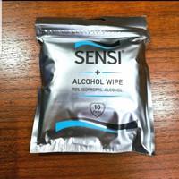 Sensi Alcohol Wipes 70% Isopropyl Alcohol / Tisu Basah Alkohol isi 10