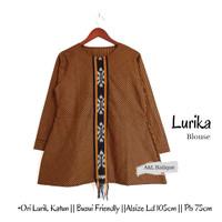 Blouse Batik Lurik Wanita by Butik Batik Solo kode LURIKA BLOUSE