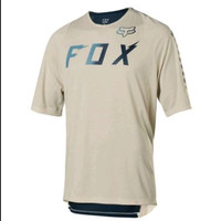 FOX WURD DEFEND Jersey Baju Sepeda Mountain Bike BMX MTB - Coklat Navy