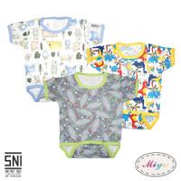 Libby & Miyo Baju Kodok Bayi Jumper Segitiga Motif Newborn 0-3 Bulan