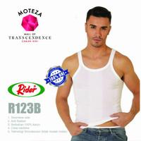 Kaos Dalam Oblong Singlet Kutang Pria T-Shirt - Rider R123B - Putih