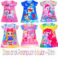 dress anak perempuan motif karakter kartun daster anak perempuan