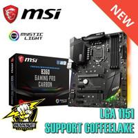 New Motherboard MSI B360 Gaming Pro Carbon LGA 1151 Coffeelake