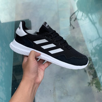 Sepatu sneakers adidas cloudfoam archivo black white original