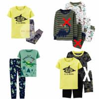 Carters Pajamas Set Anak Cowok | Baju Tidur Anak Laki-laki 9m-3y