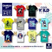 Kaos oshkosh anak laki size 4,6,8,10,12 usia 4-12th/ Baju anak branded