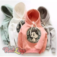 Sweater Anak laki dan perempuan karakter mickey bahan baby terry 0-5th