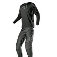 FOX PRIX 180 Jersey Baju Celana Trail Motocross Original - Hitam