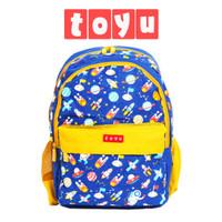 Tas Ransel Backpack Sekolah Fashion Anak Pria Perempuan Biru Kuning