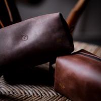 LTHRKRFT Dopp Kit Pouch Genuine Leather | Tas Pouch Travel Kulit Asli