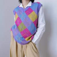 Vest rajut v neck baju outer cewek wanita korea style pinterest