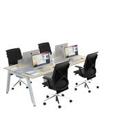 Firm by Malka - Workstation SATTU Konfigurasi 4 Orang - Meja Kantor
