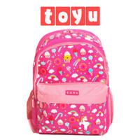 Tas Ransel Sekolah Backpack Bag Fashion Anak Perempuan Pink Unicorn