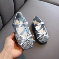 Sepatu Anak MERMAID flat shoes Perempuan import - Silver, 23