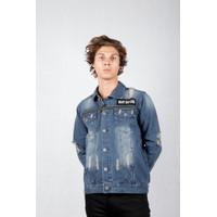 Juice Ematic Jacket denim pria Biru terang MORONES Planet Surf