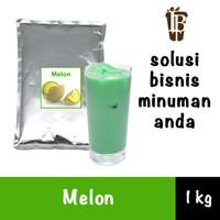 Bahan Minuman Bubuk Melon. Honeydew Bubble Tea Drink Powder