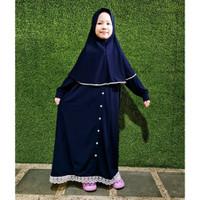 Baju Gamis Arumi 1 - 8 Tahun Maxkenzo Baju Muslim Anak BerKualitas - Dongker, 2