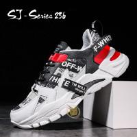 Sepatu Pria Casual Hangout Trendy Kualitas Super Premium - Merah, 40