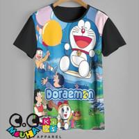 kaos anak DORAEMON baju anak DORAEMON ballon - 1-2 tahun