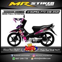 Decal Stiker Variasi Racing Motor Honda Supra Fit X Grafis Race Sport