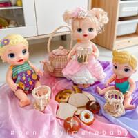 baju boneka rajut baby alive - princess puffy gown