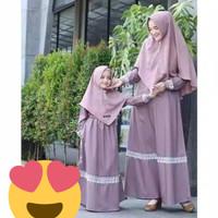 Gamis TATA Couple ibu dan Anak/ Baju Couple/ Baju murah.