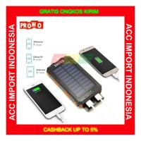 Powerbank Solar Powerbank Survival Tenaga Surya Dual LED Waterproof