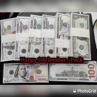 Uang Mainan Dolar / Dollar Amerika isi 100 / Uang Seserahan / Mahar