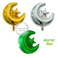 Balon Foil Star Moon / Bulan Bintang