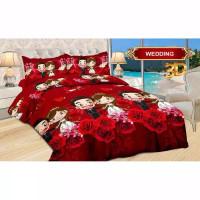 Bedcover Bonita Only / Saja King 200x200 Motif Wedding