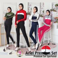 Premium Ariel SET / Baju senam Import / Setelan Olahraga Yoga Fitness