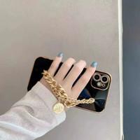 hand case tali rantai gold iphone 12 mini 11 pro xs max x xr 7 8 plus