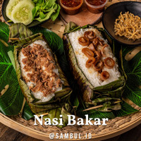 Nasi Bakar Ikan Tuna / Ayam Rempah / Cumi - Personal Size - Ikan Tuna Asap