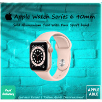 Apple Watch Series 6 GPS 40mm Gold Alumunium Case With Pink Sportband