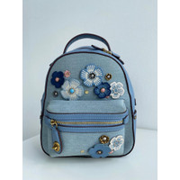 COACH Denim Tea Rose Backpack