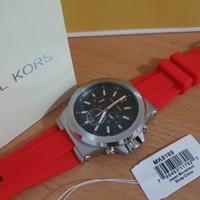 Jam Tangan Pria Michael Kors MK8169 Chronograph Red Rubber Original