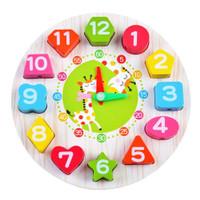 Mainan Edukasi Anak Jam Kayu Seton Clock MQ003 Wooden Puzzle Meronce