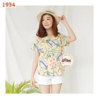 Baju wanita / baju pantai / daun / summer time / atasan wanita murah
