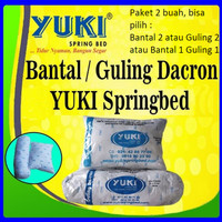 paket 2 pcs BANTAL & GULING DACRON YUKI ASLI