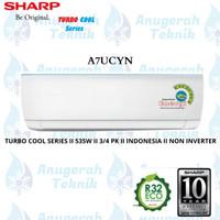 AC SPLIT SHARP 3/4 PK 3/4PK R32 JETSREAM SERIES NON INVERTER - A7UCYN