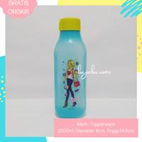 TUPPERWARE Botol Tempat Air Minum Barbie Water Bottle 1L 1000ml BLUE