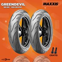 Paket Ban Motor Matic // MAXXIS GREENDEVIL MA-G1 90/80-100/80 Ring 14