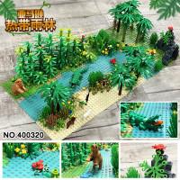400320 Jungle Set Baseplate 32x32 Tree Animal Rock Brick Balok DIY MOC
