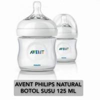 avent philips natural bottle isi 125ml (white) botol susu bayi