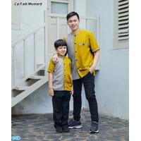 Cp fadil/Baju Couple Set Keluarga Isi 2 Baju Ayah Dan Anak /Kemeja