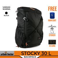 Tas Ransel Traveling Backpack URBAN FACTOR STOCKY Water repellent